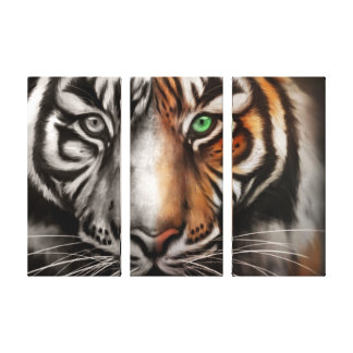 Bengal Tiger Eye 3 Pc Stretched Canvas Fade Gallery Wrapped Canvas