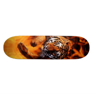 Bengal Tiger Jumping Flames SB Skateboards