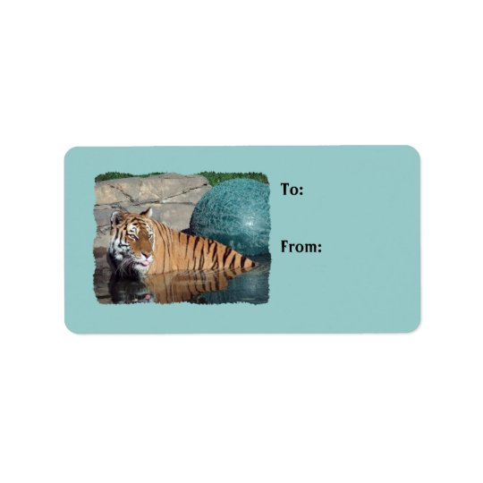 Bengal Tiger Photo Light Blue Gift Tags