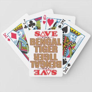 Bengal Tiger Save Bicycle Playing Cards