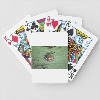 Bengal Tiger Swimming Bicycle Playing Cards