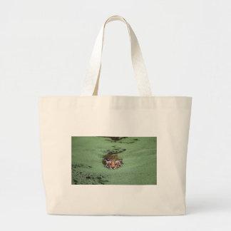 Bengal Tiger Swimming Large Tote Bag