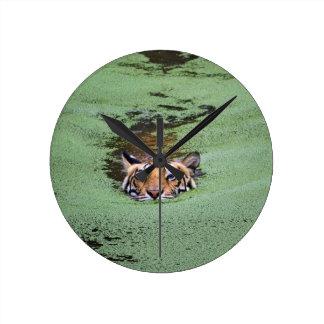 Bengal Tiger Swimming Wallclocks