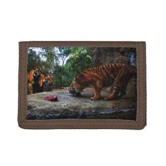 Bengal Tiger Teasing The Kids, Tri-fold Wallet