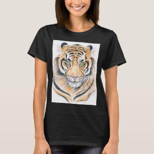 Bengal Tiger Watercolor Ink art T-Shirt