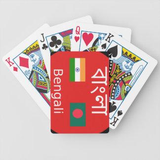 Bengali Language Design Bicycle Playing Cards