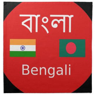 Bengali Language Design Napkin