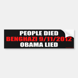 Benghazi 9/11/2012 bumper sticker