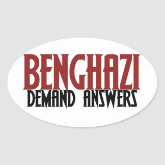 Benghazi Demand Answers Oval Sticker
