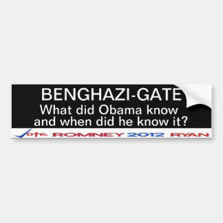 Benghazi-Gate What did Obama know? Sticker