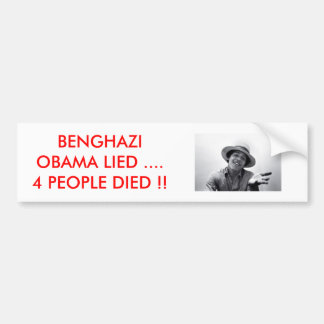 BENGHAZI /OBAMA BUMPER STICKER