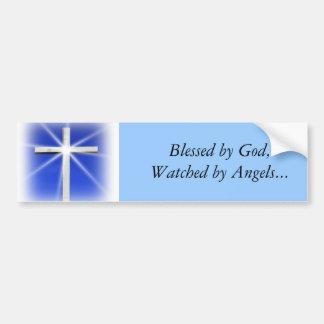 Béni par l'adhésif pour pare-chocs de Dieu Autocollant De Voiture