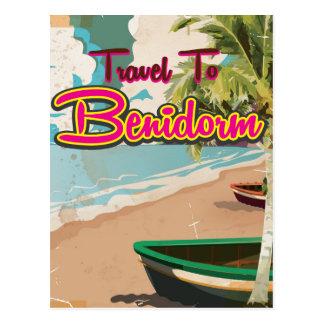 Benidorm,Spain Vintage vacation Poster Postcard
