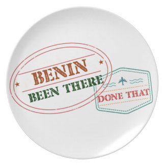 Benin Been There Done That Plate