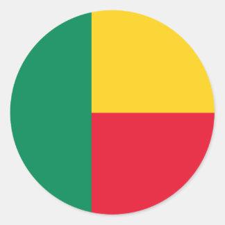 Benin Flag Classic Round Sticker