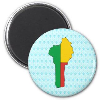 Benin Flag Map full size Magnet