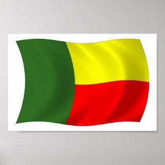 Benin Flag Poster Print