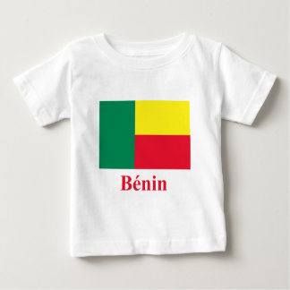 Benin Flag with Name in French Tshirts