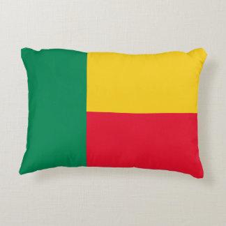 Benin National World Flag Accent Pillow