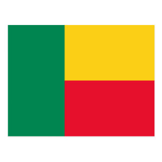 Benin National World Flag Postcard