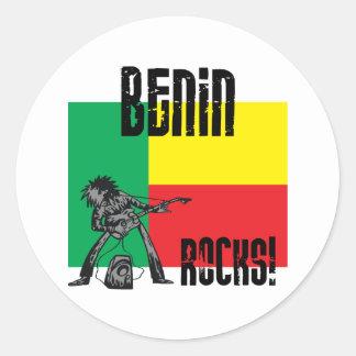 Benin Rocks Classic Round Sticker
