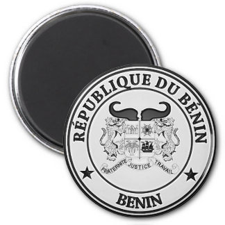 Benin  Round Emblem Magnet
