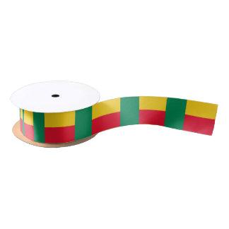 Beninese flag ribbon satin ribbon