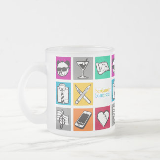 "benjamin bannister ""Cube"" Frosted Glass Coffee Mug"