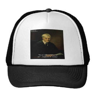 "Benjamin Cardozo ""Who We Are"" Quote Trucker Hat"