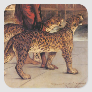 Benjamin Constant Palace Guard with Two Leopards 4 Square Sticker