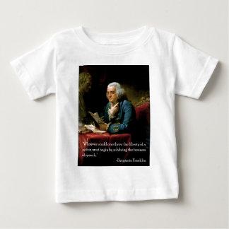Benjamin_Franklin_1767 quote on speech Baby T-Shirt