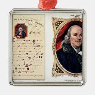 Benjamin Franklin  1847 Metal Ornament