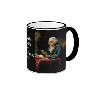 Benjamin Franklin - 1967 Painting by David Martin Coffee Mug