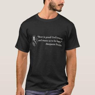Benjamin Franklin Beer Quote T-Shirt