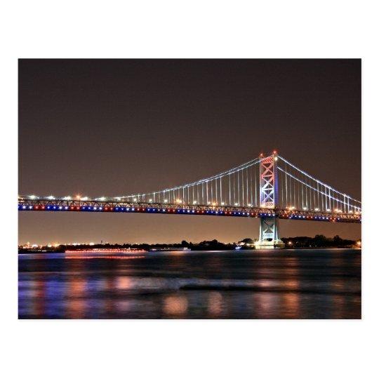 Benjamin Franklin Bridge Postcard