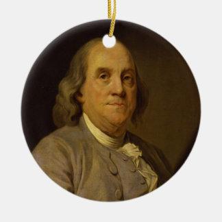 Benjamin Franklin by Joseph-Siffred Duplessis Ceramic Ornament