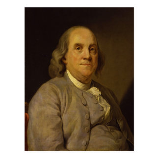 Benjamin Franklin by Joseph-Siffred Duplessis Postcard