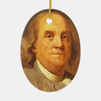 Benjamin Franklin Ceramic Ornament