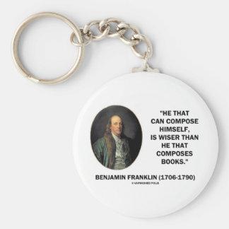 Benjamin Franklin Composes Himself Wiser Than Keychain