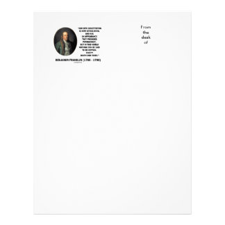 Benjamin Franklin Death Taxes Quote Letterhead Template