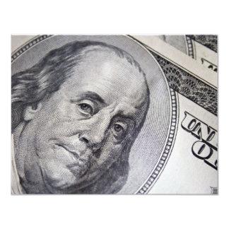 Benjamin Franklin Face Card