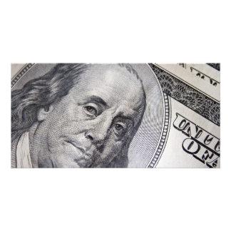 Benjamin Franklin Face Photo Card Template
