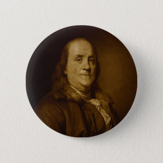 Benjamin Franklin Head and Shoulders Portrait 2 Inch Round Button