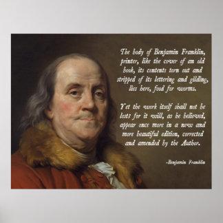 Benjamin Franklin Heaven Poster