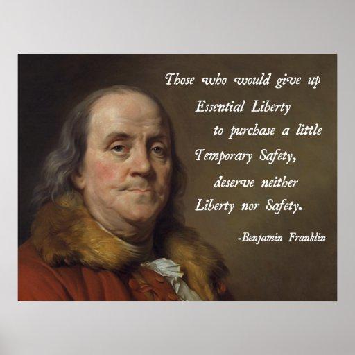 Benjamin Franklin Liberty Posters