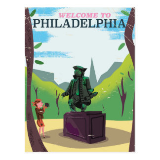 Benjamin Franklin Philadelphia cartoon Postcard