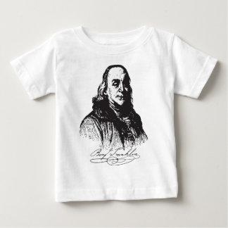 Benjamin Franklin Portrait and Signature Design Baby T-Shirt