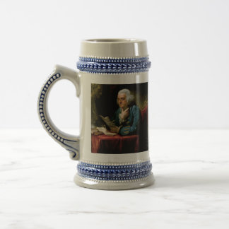 Benjamin Franklin Portrait by David Martin 1767 Beer Stein