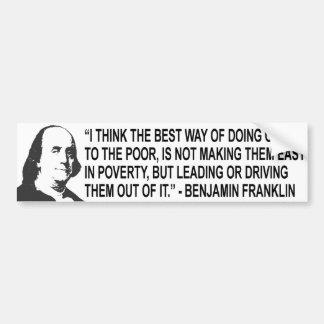 Benjamin Franklin Quote Bumpert Sticker