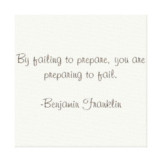 Benjamin Franklin Quote Gallery Wrapped Canvas